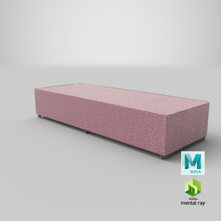 Основание кровати 04 Румяна royalty-free 3d model - Preview no. 26