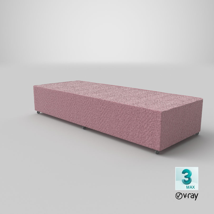 Основание кровати 04 Румяна royalty-free 3d model - Preview no. 24