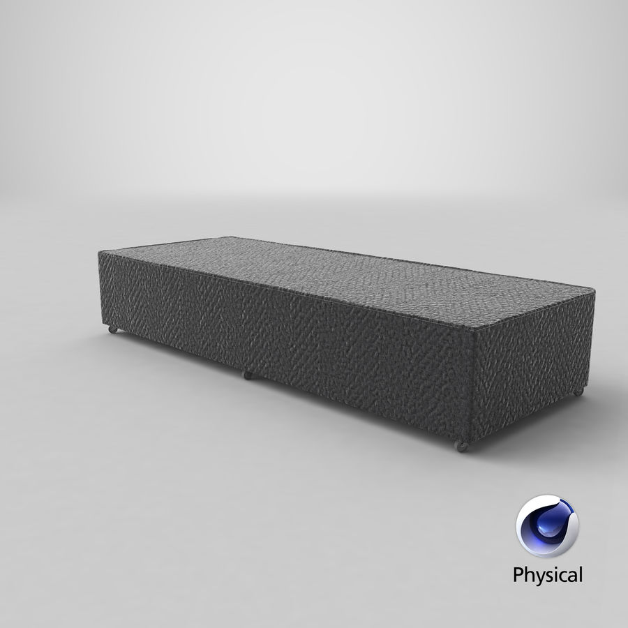 Bed Base 04 Charcoal royalty-free 3d model - Preview no. 20