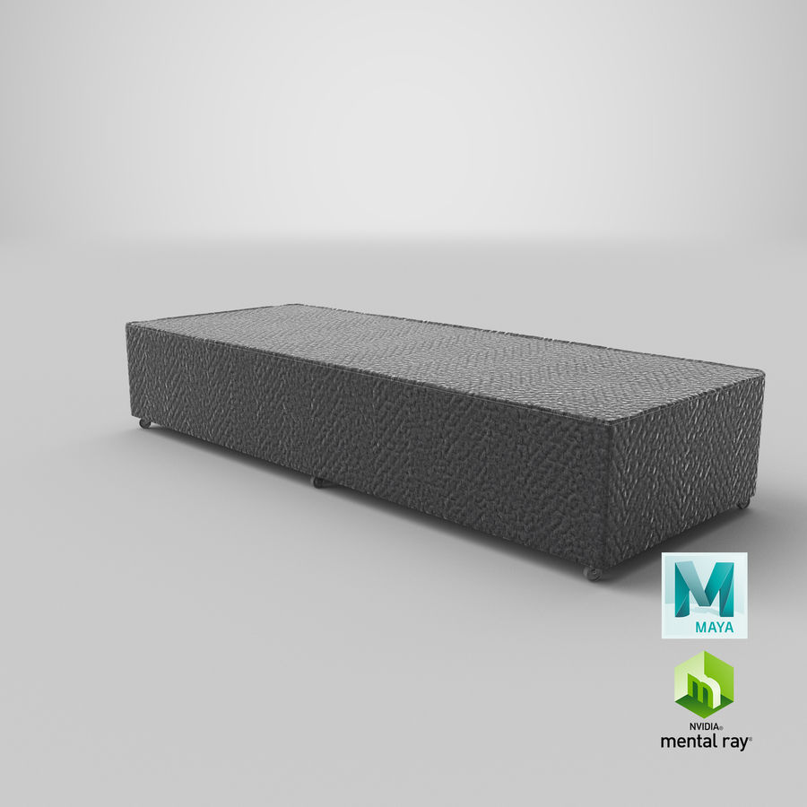 Bed Base 04 Charcoal royalty-free 3d model - Preview no. 26
