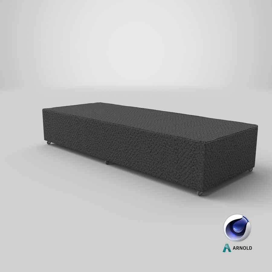 Bed Base 04 Charcoal royalty-free 3d model - Preview no. 21