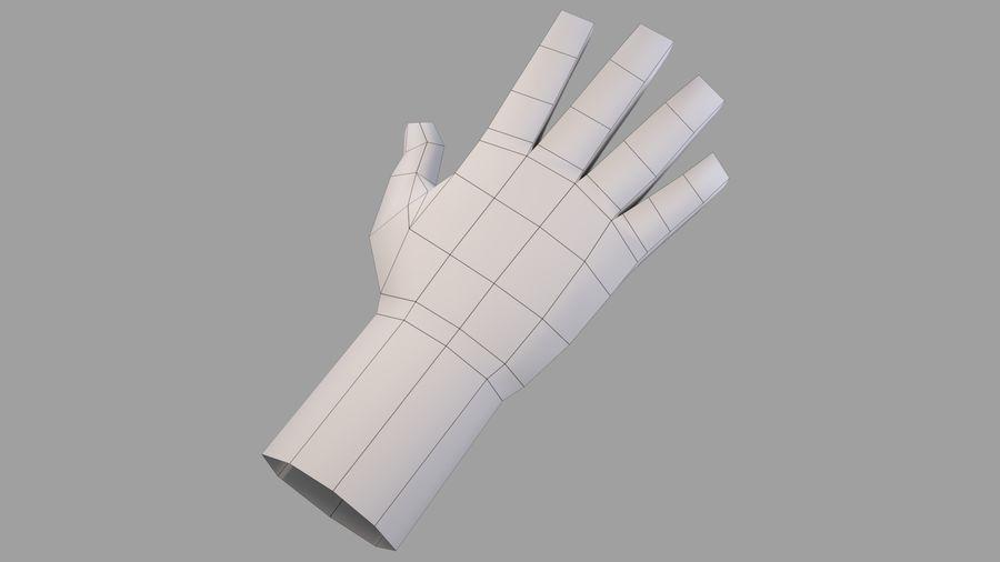 Ręka Low Poly nr: 2 royalty-free 3d model - Preview no. 11