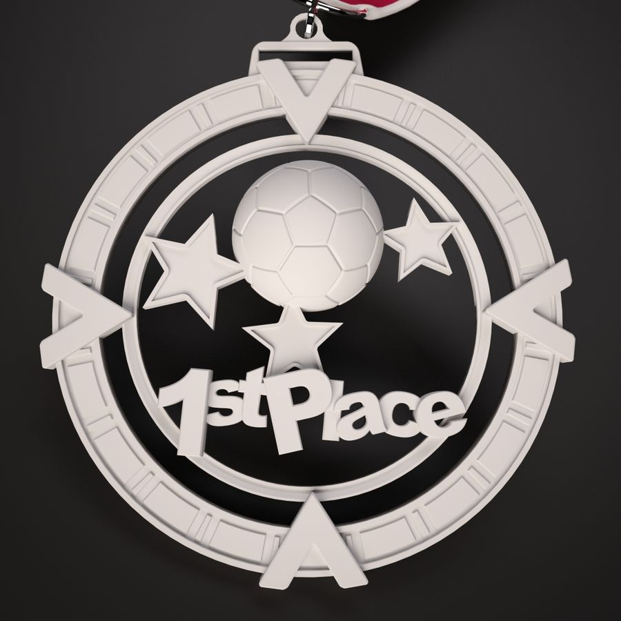 3D Printable Medal Style 1 1st Place royalty-free 3d model - Preview no. 2