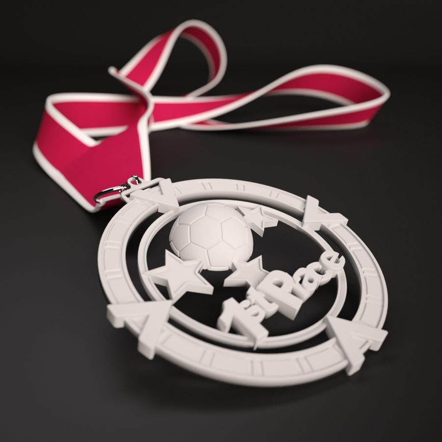 3D Printable Medal Style 1 1st Place royalty-free 3d model - Preview no. 1