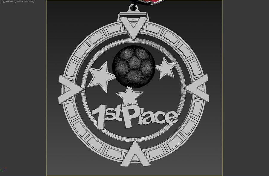 3D Printable Medal Style 1 1st Place royalty-free 3d model - Preview no. 5