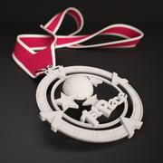 """3D Printable Medal Style 1 """"1st Place"""" 3d model"""