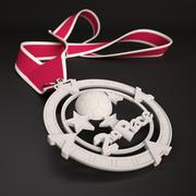 "3D Printable Medal Style 1 ""2nd Place"" 3D model 3d model"