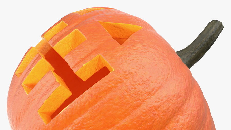 Halloween Pumpkinhead royalty-free 3d model - Preview no. 11