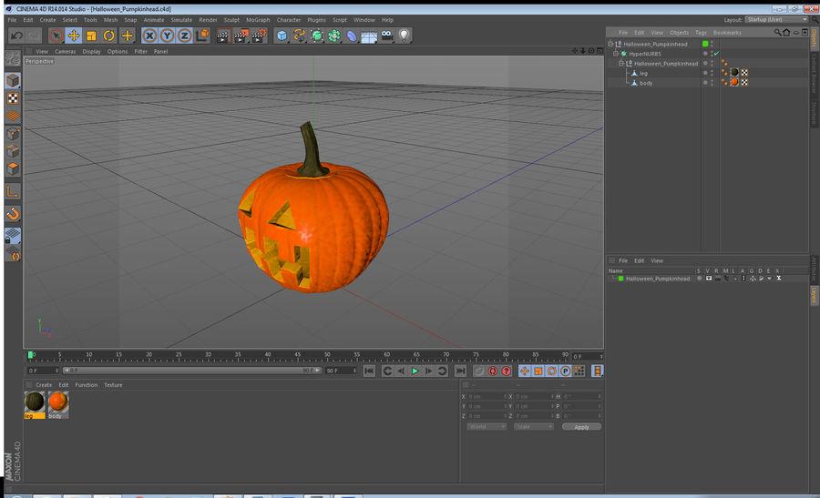 Halloween Pumpkinhead royalty-free 3d model - Preview no. 17