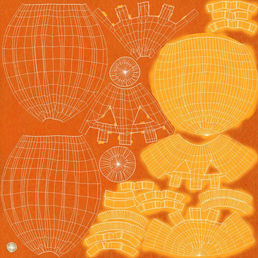 Halloween Pumpkinhead royalty-free 3d model - Preview no. 15