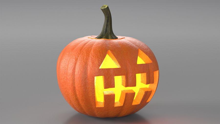 Halloween Pumpkinhead royalty-free 3d model - Preview no. 4