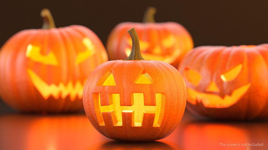Halloween Pumpkinhead royalty-free 3d model - Preview no. 2