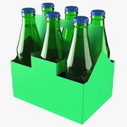Pacote de garrafa de refrigerante verde 3d model
