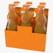Orange Soda Glass Bottle Package 3d model