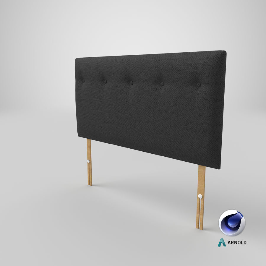 Headboard 08 Charcoal royalty-free 3d model - Preview no. 23