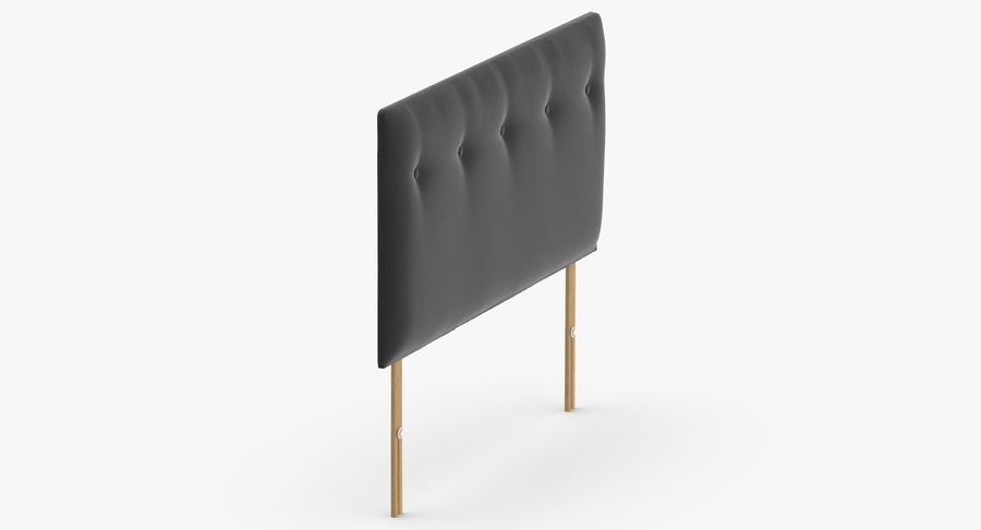 Headboard 08 Charcoal royalty-free 3d model - Preview no. 4