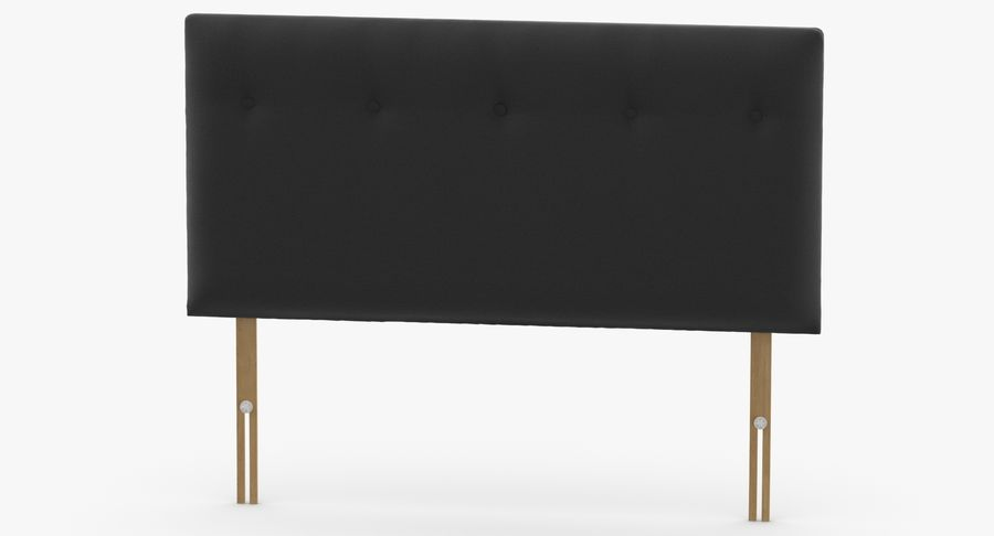 Headboard 08 Charcoal royalty-free 3d model - Preview no. 5