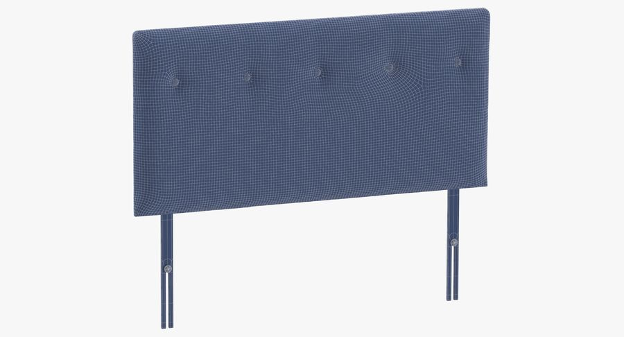 Headboard 08 Charcoal royalty-free 3d model - Preview no. 10