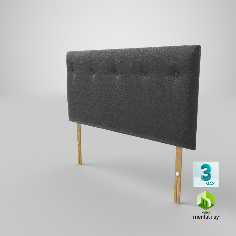 Headboard 08 Charcoal royalty-free 3d model - Preview no. 25