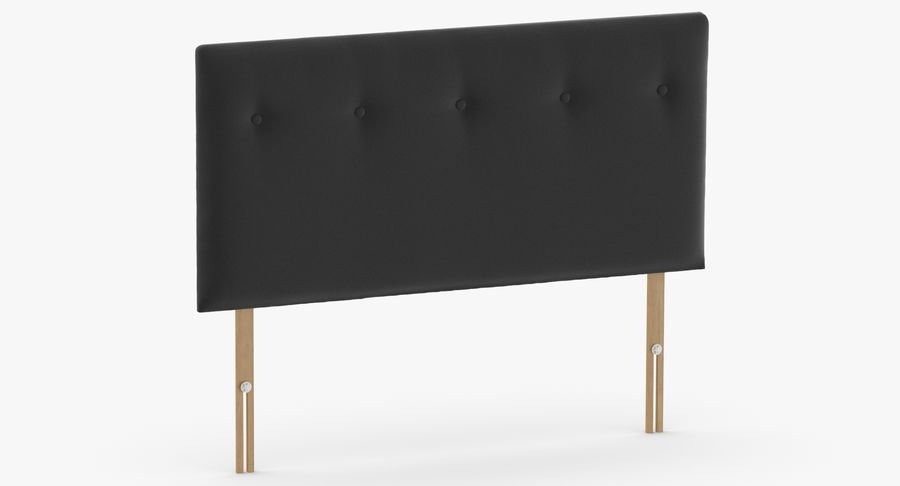 Headboard 08 Charcoal royalty-free 3d model - Preview no. 3