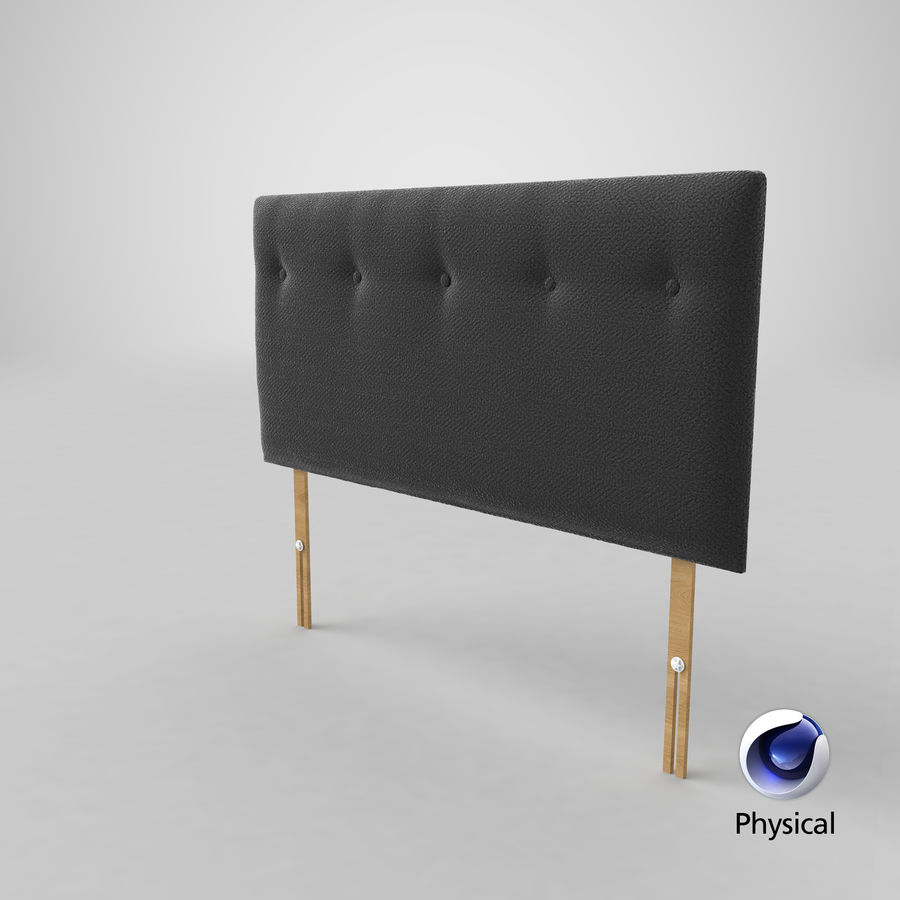 Headboard 08 Charcoal royalty-free 3d model - Preview no. 22
