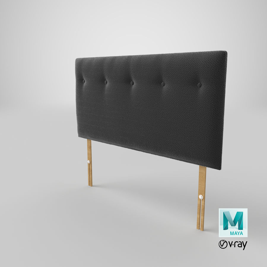 Headboard 08 Charcoal royalty-free 3d model - Preview no. 29