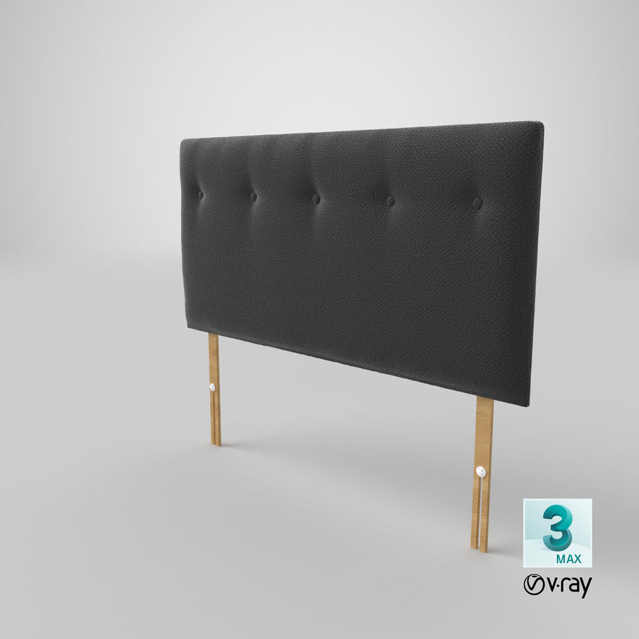 Headboard 08 Charcoal royalty-free 3d model - Preview no. 26