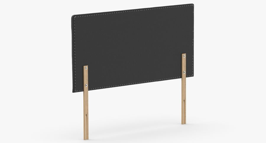 Headboard 08 Charcoal royalty-free 3d model - Preview no. 6
