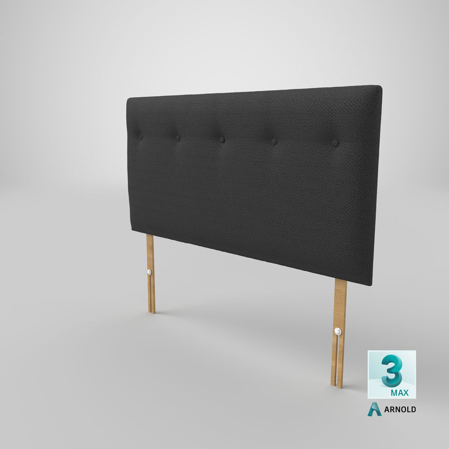 Headboard 08 Charcoal royalty-free 3d model - Preview no. 24