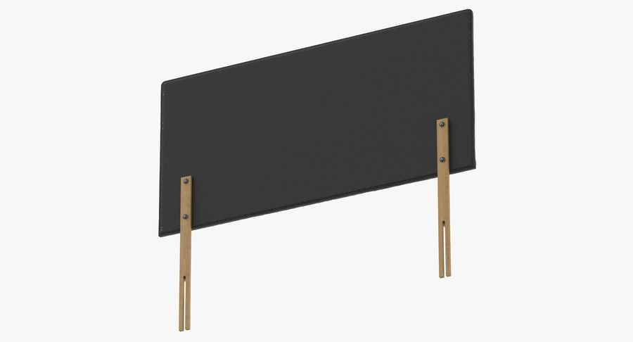 Headboard 08 Charcoal royalty-free 3d model - Preview no. 8