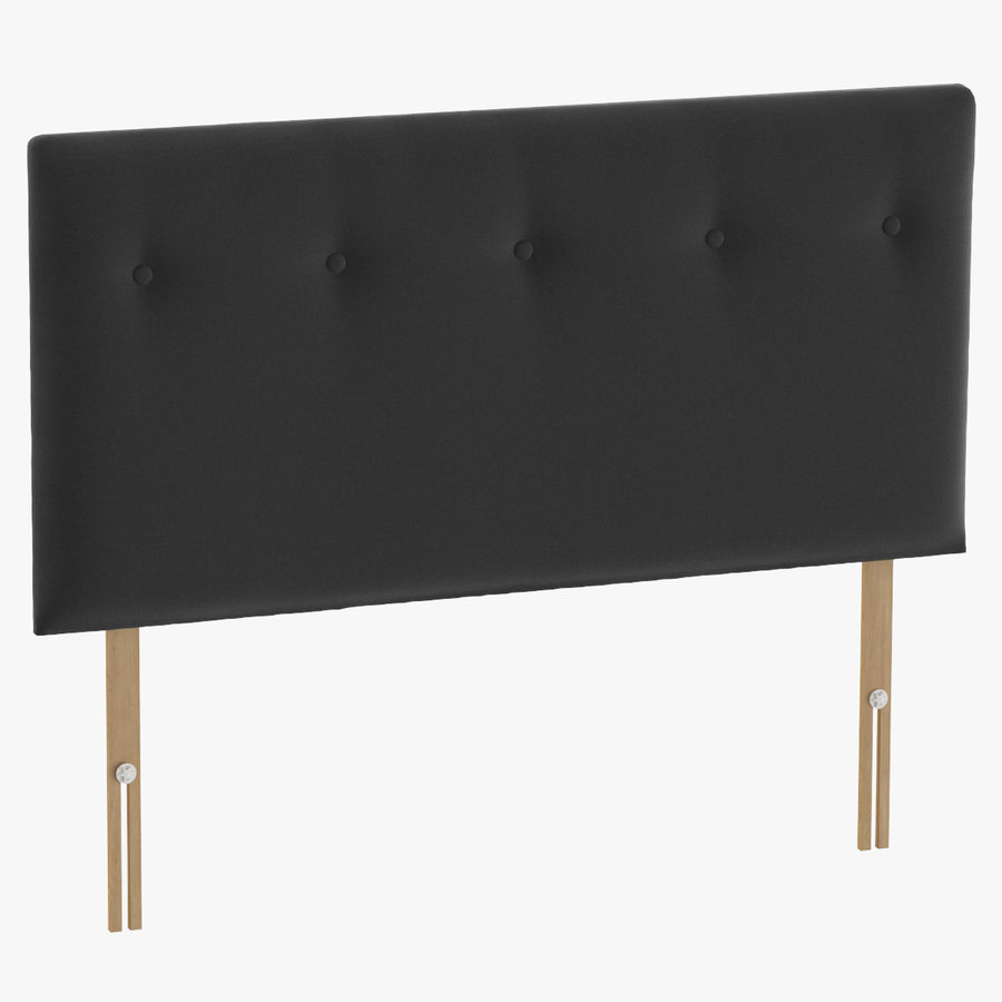 Headboard 08 Charcoal royalty-free 3d model - Preview no. 1