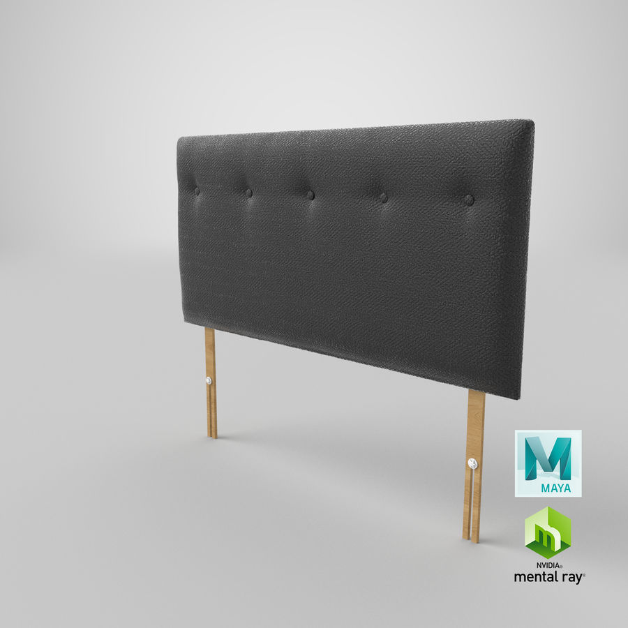 Headboard 08 Charcoal royalty-free 3d model - Preview no. 28