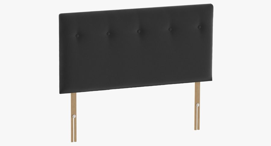 Headboard 08 Charcoal royalty-free 3d model - Preview no. 2