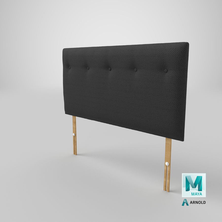 Headboard 08 Charcoal royalty-free 3d model - Preview no. 27