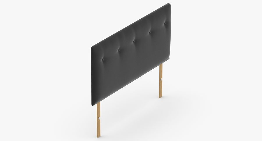 Headboard 08 Charcoal royalty-free 3d model - Preview no. 7