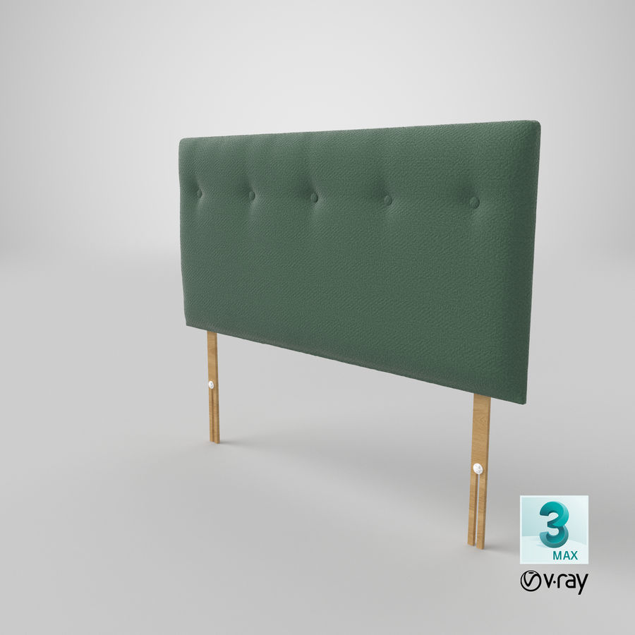Headboard 08 Mint royalty-free 3d model - Preview no. 26