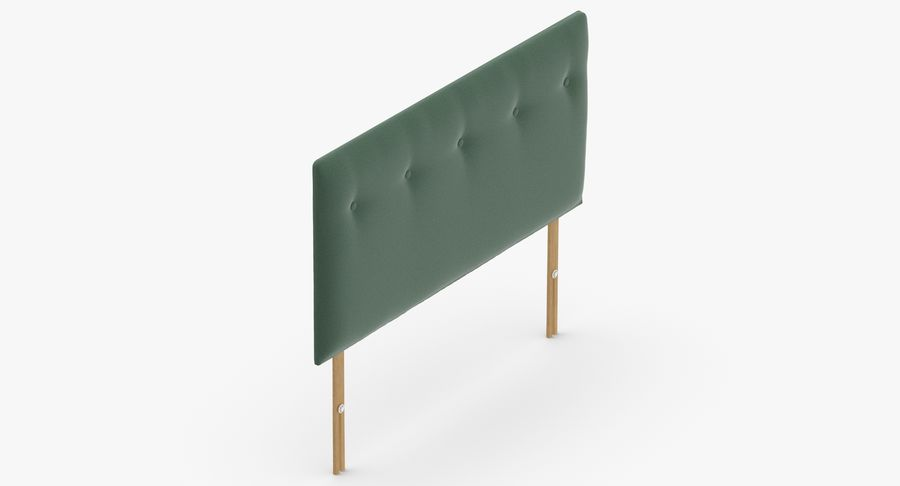 Headboard 08 Mint royalty-free 3d model - Preview no. 7