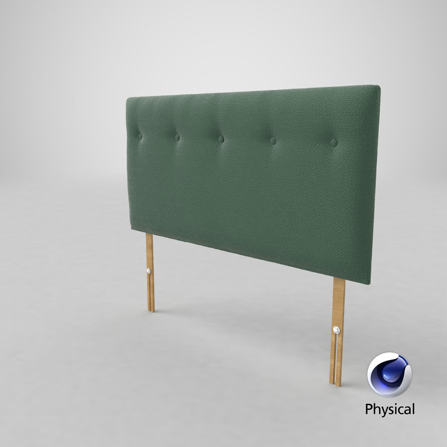 Headboard 08 Mint royalty-free 3d model - Preview no. 22