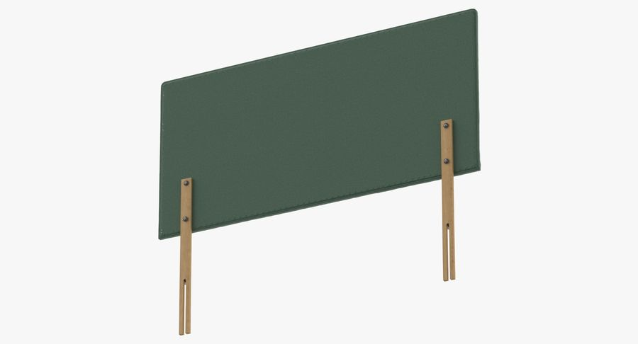 Headboard 08 Mint royalty-free 3d model - Preview no. 8