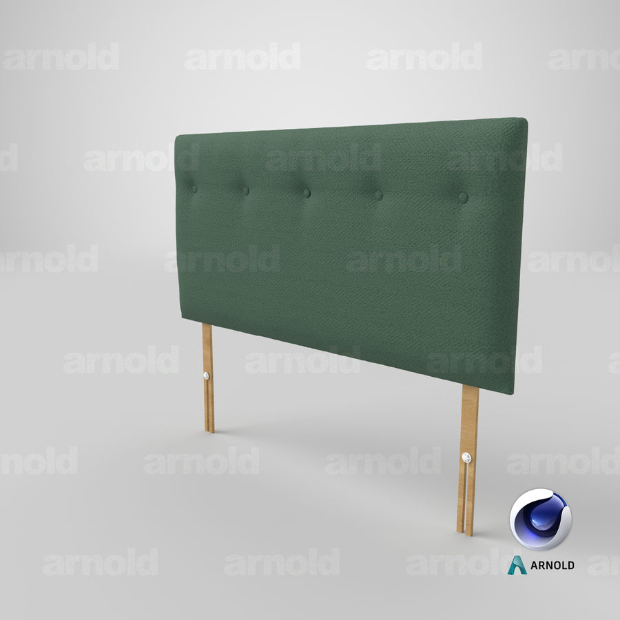 Headboard 08 Mint royalty-free 3d model - Preview no. 23