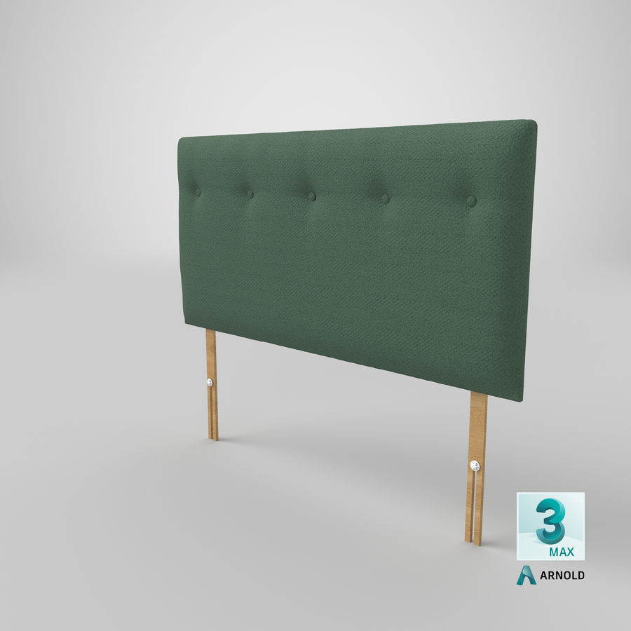 Headboard 08 Mint royalty-free 3d model - Preview no. 24