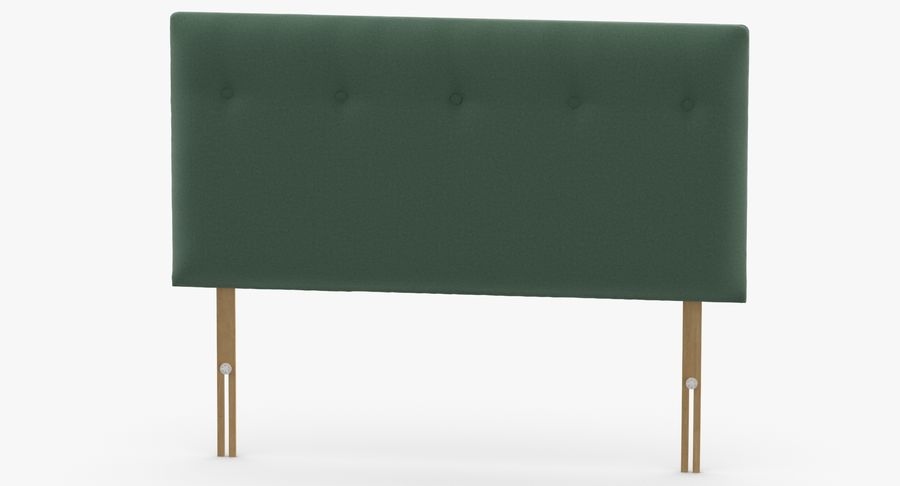 Headboard 08 Mint royalty-free 3d model - Preview no. 5