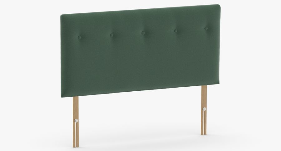 Headboard 08 Mint royalty-free 3d model - Preview no. 3