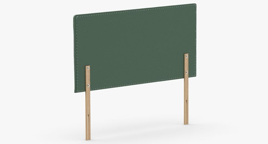 Headboard 08 Mint royalty-free 3d model - Preview no. 6