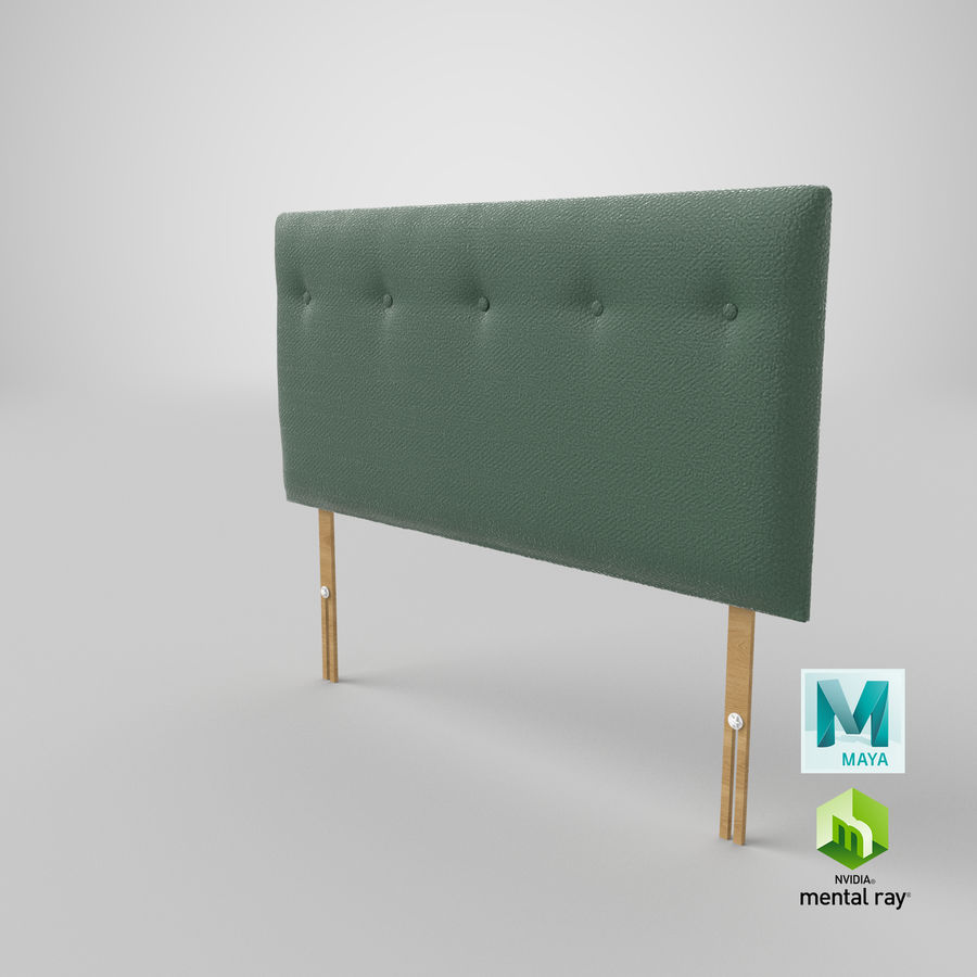 Headboard 08 Mint royalty-free 3d model - Preview no. 28
