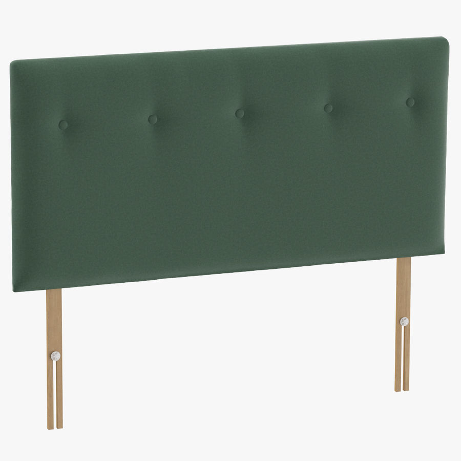Headboard 08 Mint royalty-free 3d model - Preview no. 1