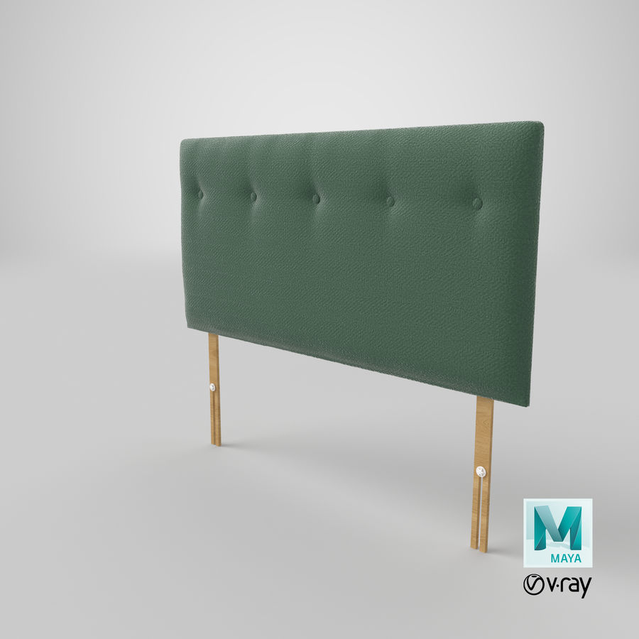 Headboard 08 Mint royalty-free 3d model - Preview no. 29