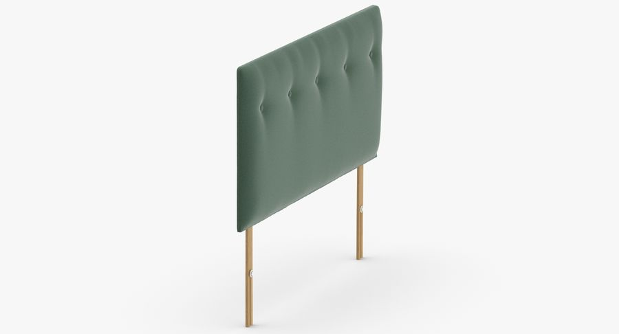 Headboard 08 Mint royalty-free 3d model - Preview no. 4