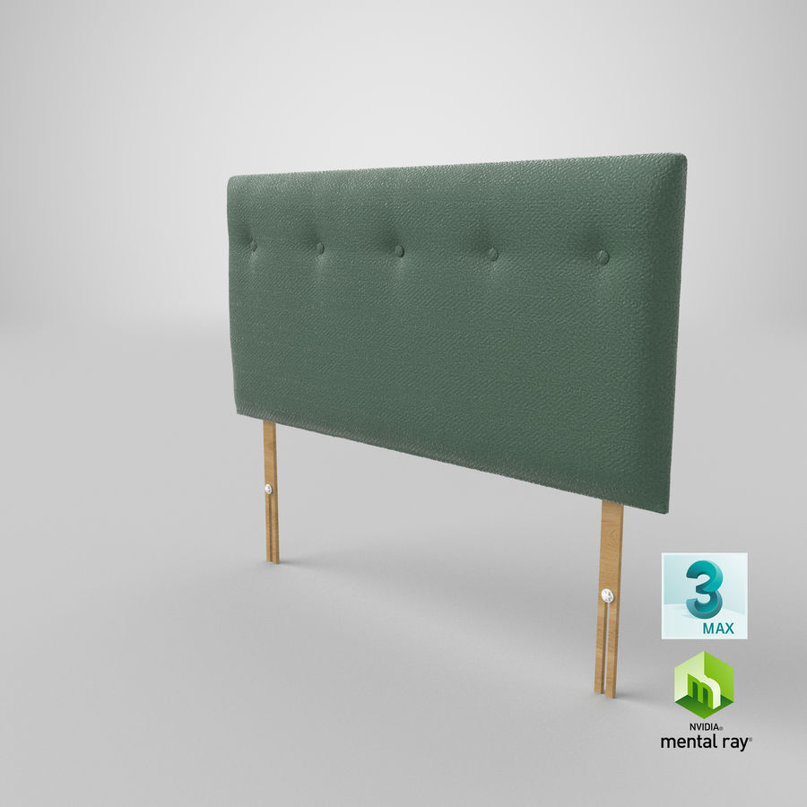 Headboard 08 Mint royalty-free 3d model - Preview no. 25