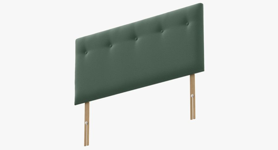 Headboard 08 Mint royalty-free 3d model - Preview no. 9